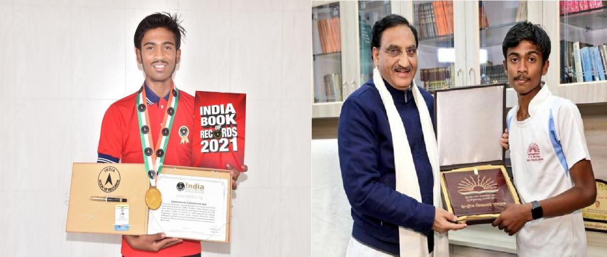 Harsh Pandit, student of KV No. 2 GCF Jabalpur received a certificate from India Book of Records. He completed a 900 KMs Marathon from Jabalpur to Delhi (26th Jan 2020 to 12th Feb 2020) for the cause of Plastic Free India and Water Conservation.