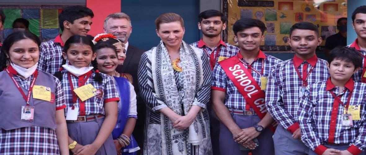Visit of Hon'ble Prime Minister of Denmark Ms. Mette Frederiksen to KV Sector 8 RK Puram on the occasion of  International Day of the Girls Child (11.10.2021).