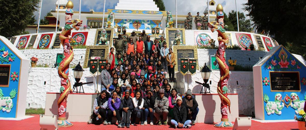 KV students at Tawang War Memorial  Seema Darshan- Oct 2018