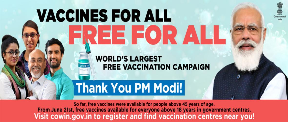 Free Vaccination for ALL