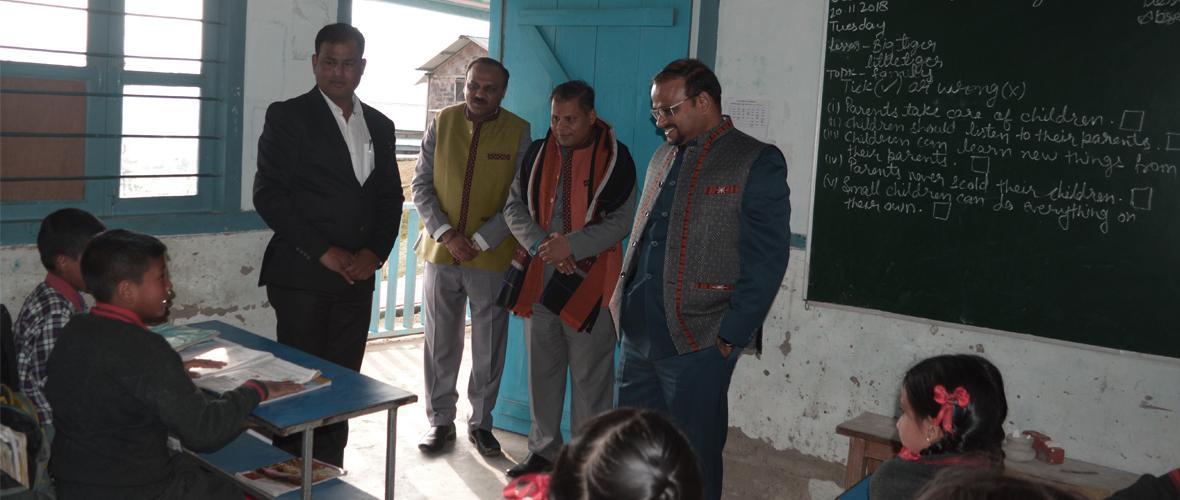 Commissioner, KVS visits KV Ziro in KVS Tinsukia Region and interacts with students. (20.11.2018)